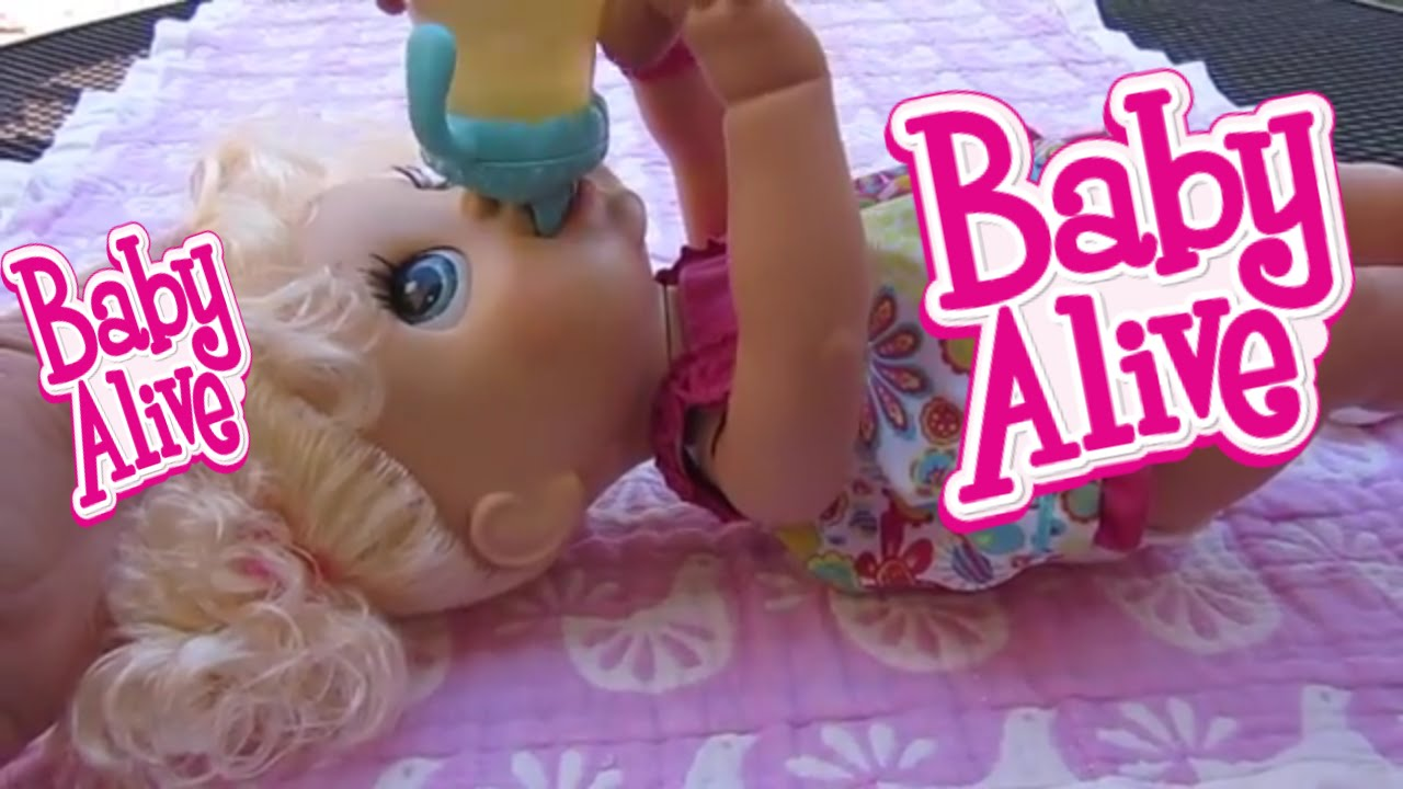 Baby Alive Feeding And Changing Video With My Real Baby