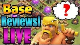 Clash of clan || LIVE BASE REVIEW