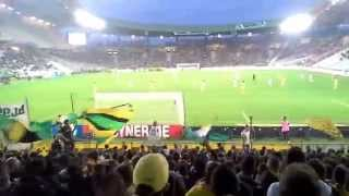 Ambiance de feu en Tribune Loire - Nantes vs Monaco