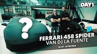 Als ik sterf, dan wel in een Ferrari 458 Spider van DJ La Fuente | De Auto Van | DAY1