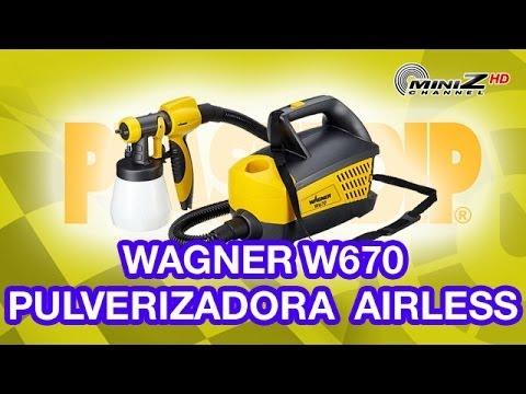 Wagner W670 Pulverizador Airless para Plasti-Dip - MiniZ Channel - 279