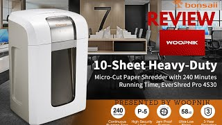 Bonsaii 4S30 Paper Shredder - In Depth Review.
