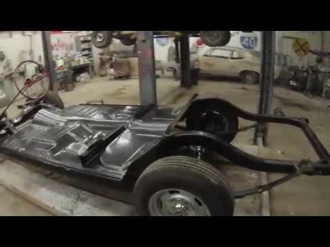 1957 chevy Belair one piece floor pan install