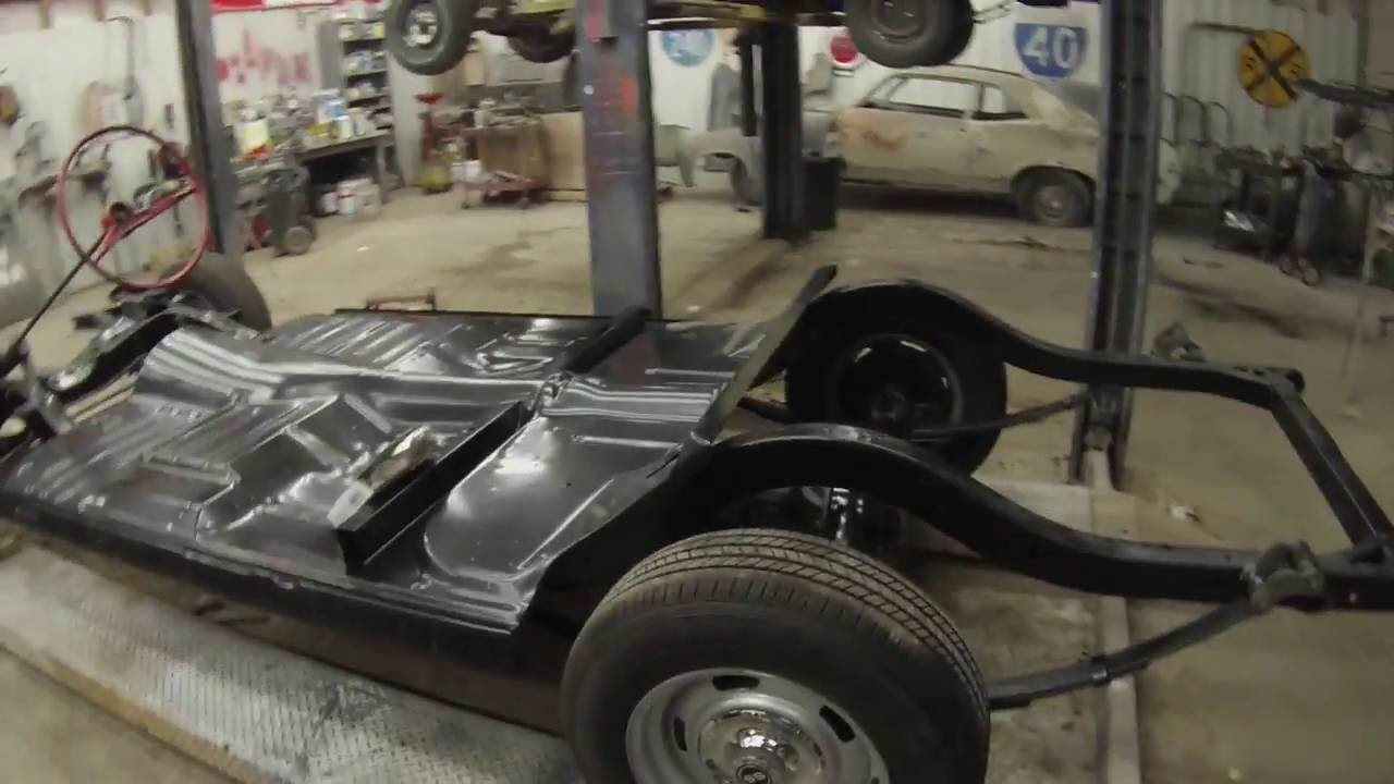 1957 Chevy Belair One Piece Floor Pan Install Youtube