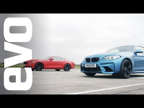 Ford Mustang 5.0 GT vs BMW M2 - Which is fastest? | evo DRAG BATTLE