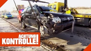 Schwerer Autounfall! PKW wird abgeschleppt! Lohnt sich eine Reparatur? | Achtung Kontrolle