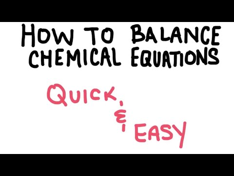 How to Balance a Chemical Equation QUICK and EASY METHOD