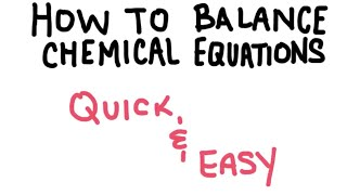 How to Balance a Chemical Equation EASY thumbnail
