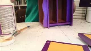 Thrift Store Jewelry Box Altered Process Video Part 1