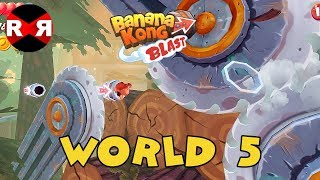 Banana Kong Blast - WORLD 5 - iOS / Android 3 Stars Walkthrough Gameplay