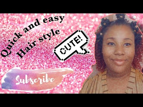 Knotted curly hair style tutorial
