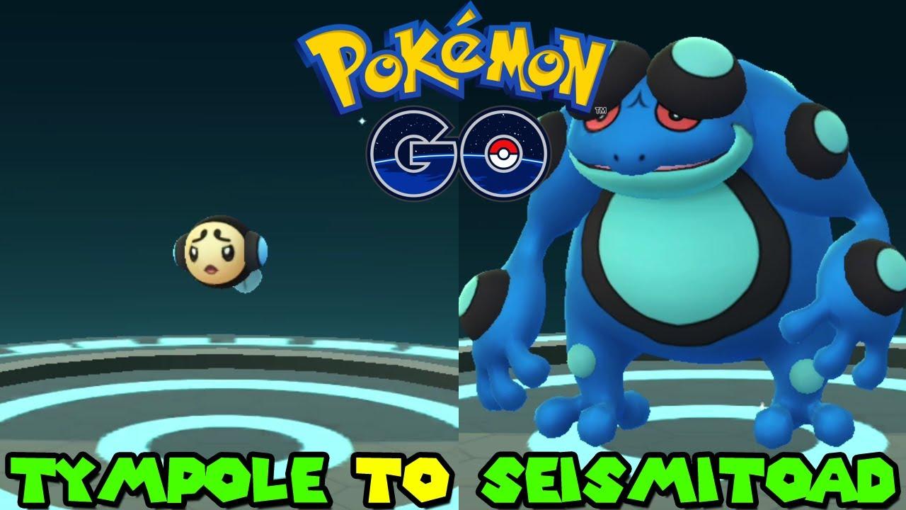 Evolving TYMPOLE to SEISMITOAD in Pokemon Go - YouTube