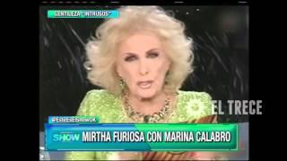 Mirtha Legrand furiosa con Marina Calabró