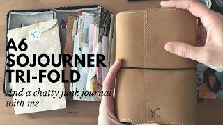 A6 Sojourner Tri-fold and a Chatty Junk Journal With Me #gratitudejournal