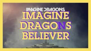 Imagine dragons - believer (lyrics) (visualizer)
