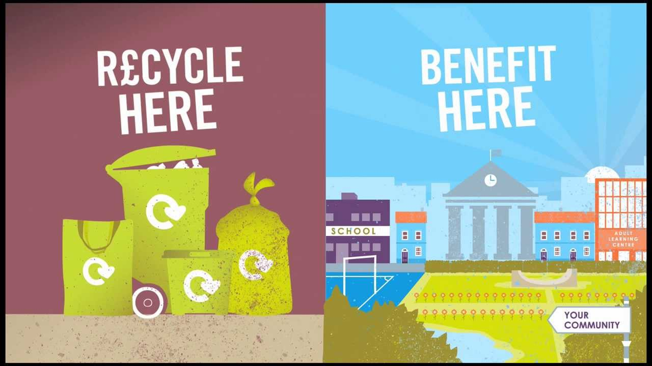 Recycle here - Benefit here - recycling saves money - YouTube