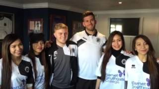 4th Impact having a ball at Boreham Wood Football Club