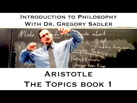 Aristotle, the Topics, book 1 - Introduction to Philosophy