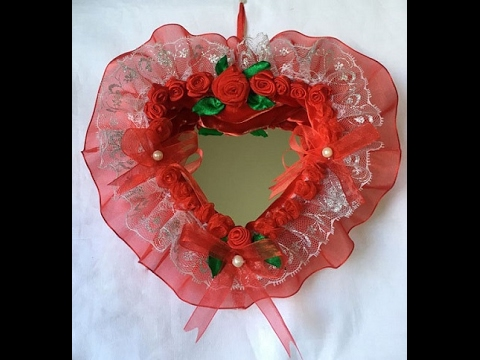 Heart Shaped Mirror Wall Hanging...