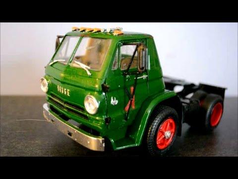 FINISHED LINDBERG DODGE L-700 CABOVER TRUCK MODEL - YouTube