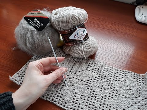 Пуловер (туника) крючок+спицы. Часть 1.