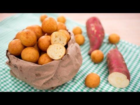Easy Sweet Potato Doughnut Recipe (no yeast) ขนมไข่เต่า ขนมไข่นกกระทา | Thai Recipes