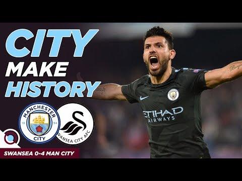 SWANSEA CITY 0-4 MAN CITY   Man City Make History!