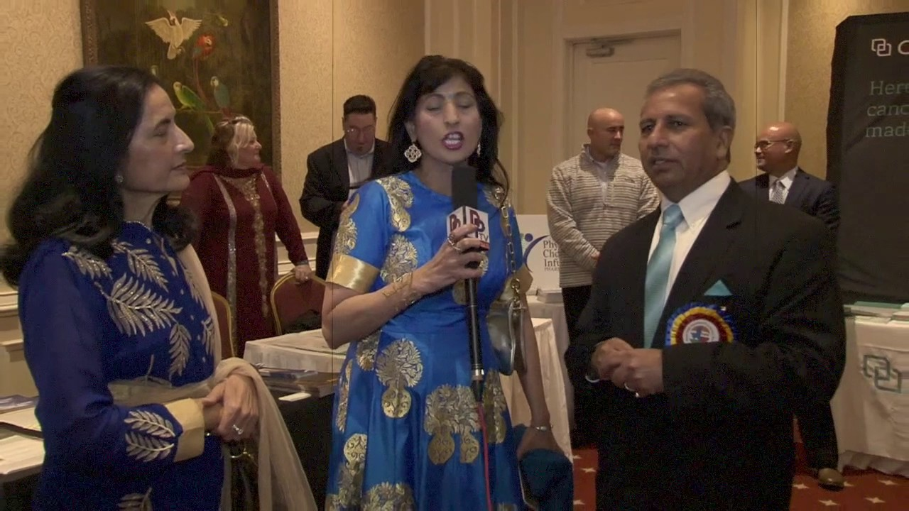 Representative from Diabetes Free Life speaking to Desiplaza TV at TIPS Banquet 2016