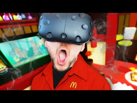 VIRTUAL REALITY MCDONALDS | Job Simulator #1 (HTC Vive Virtual Reality)