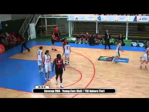Eurocup FIBA - Young Cats (Bel) / TED Ankara (Tur)