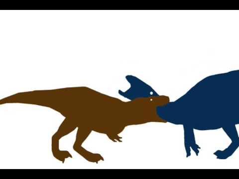 (Quickie fights) T rex vs Shantungosaurus - YouTube