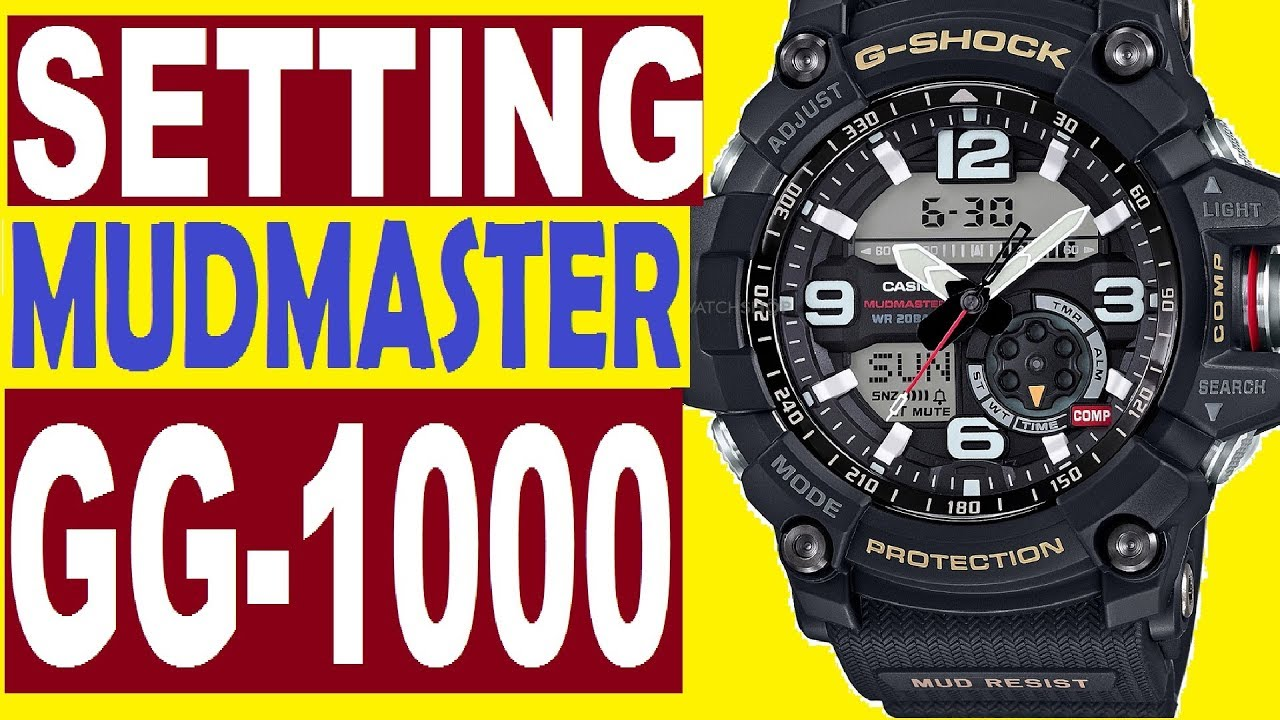 Gg Setting Manual 1000 Use Watch Casio G For Shock Mudmaster 5476 BsohQtxrdC