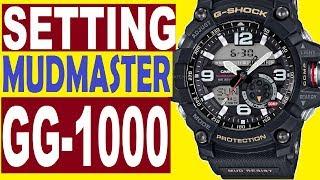 Setting Casio G-Shock Mudmaster GG-1000 manual 5476 for use watch