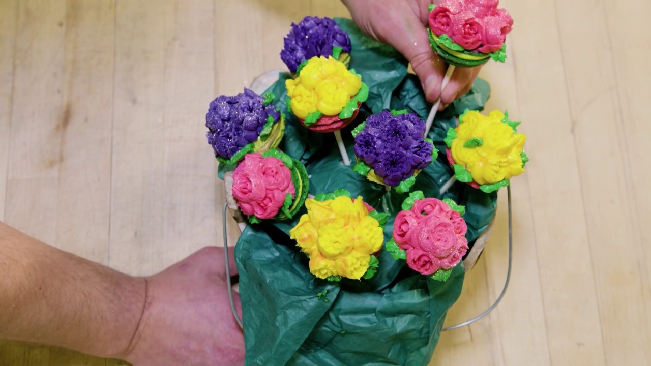 How To Make an Edible Flower Bouquet - YouTube