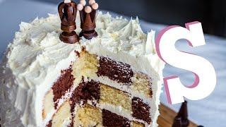 How To Make A Checkerboard Cake Recipe - Homemade By Sorted