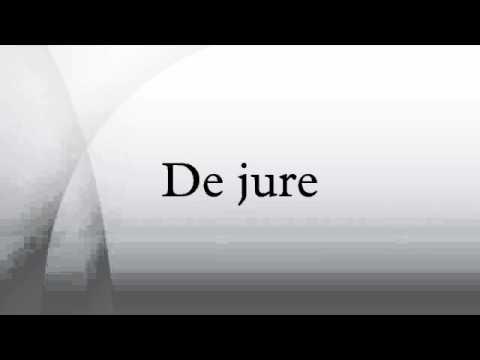 De jure