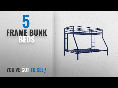 Top 10 Frame Bunk Beds [2018]: DHP Twin-Over-Full Bunk Bed With Metal Frame And Ladder, Space-Saving