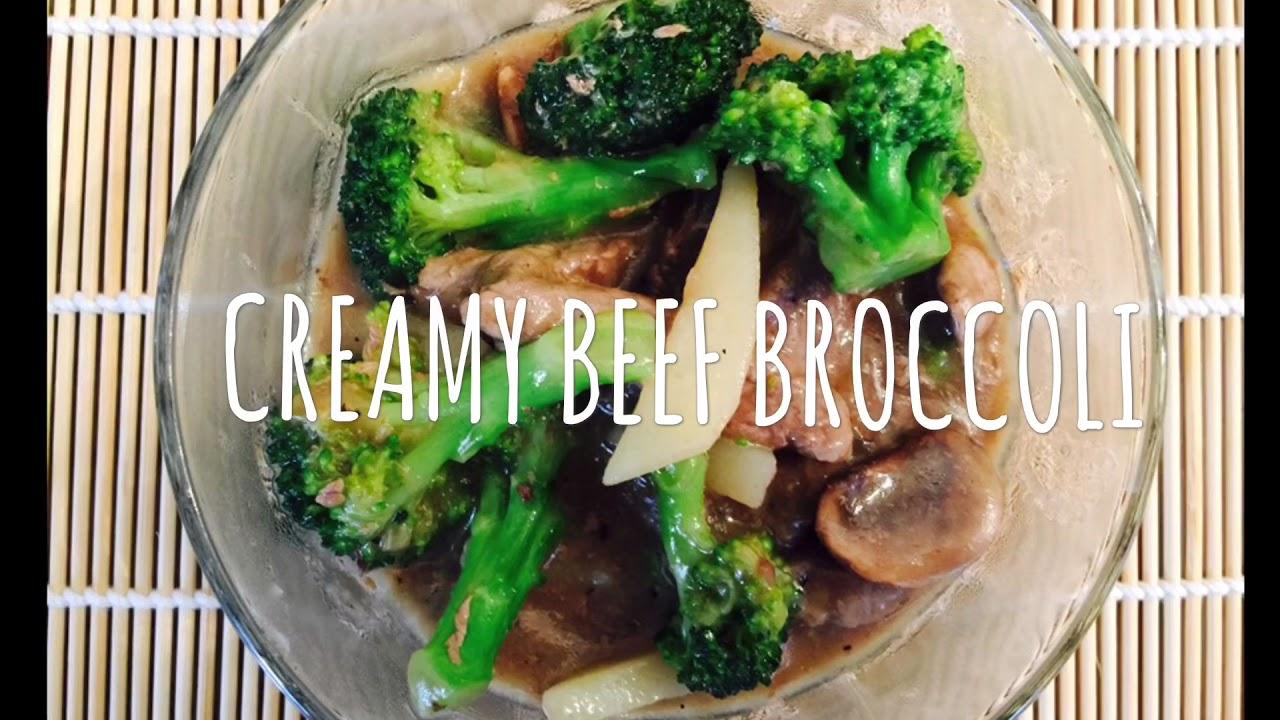 CREAMY BEEF BROCCOLI - YouTube