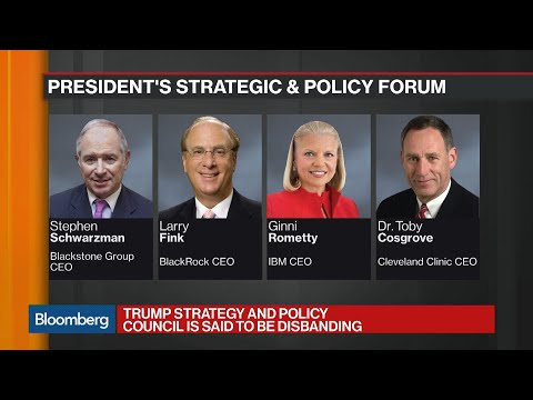 Trump Disbands Business Councils as CEOs Turn Against Him