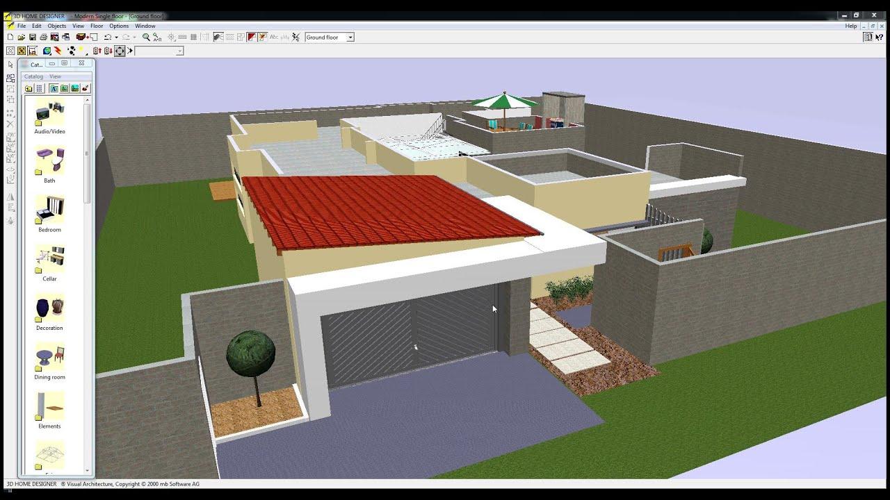 Single Level Flat Roof Open House Youtube
