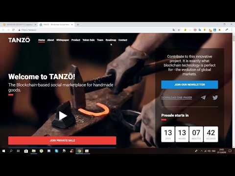 Tanzo - торговая площадка для товаров ручной работы на блокчейне!