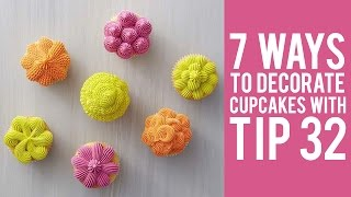 How to Decorate Cupcakes with Tip 32– 7 ways!