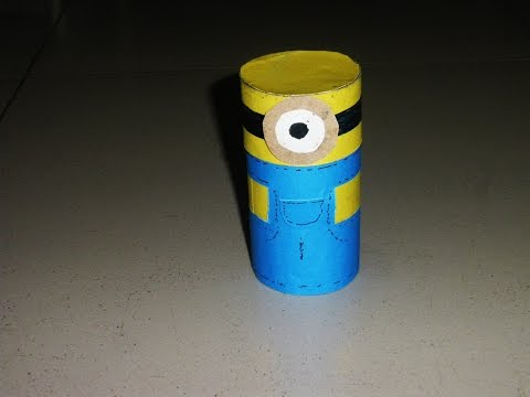 DIY Crafts: Minions Box From Cardboard Tube