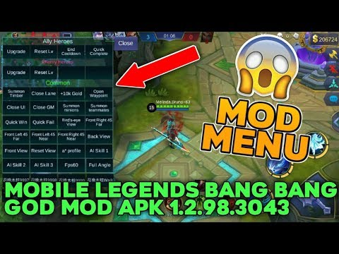 Mobile Legends Bang Bang GOD MOD APK 1 2 98 3043 (MOD MENU