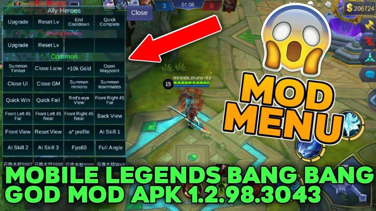 Mobile Legends Bang Bang GOD MOD APK 1 2 98 3043 (MOD MENU)