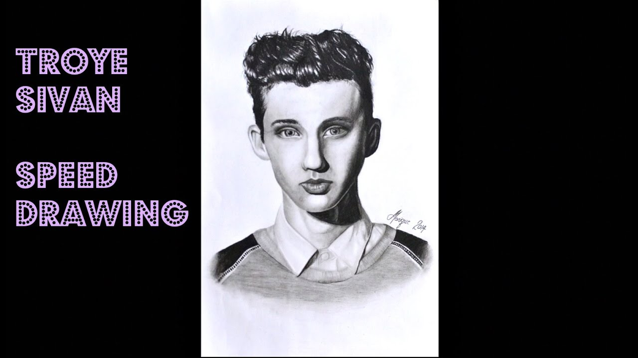 Troye Sivan Speed Drawing + Happy little Pill & Gasoline ...