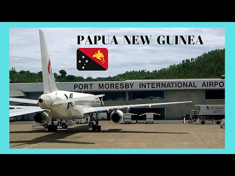 PAPUA NEW GUINEA, TAKING OFF off from PORT MORESBY'S airport, great views