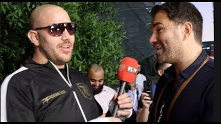 'I'D BUY SOME REAL SUNGLASSES IF YOU PAID ME MORE' - EDDIE HEARN TOLD BY TOM LITTLE, PAIR GO AT IT