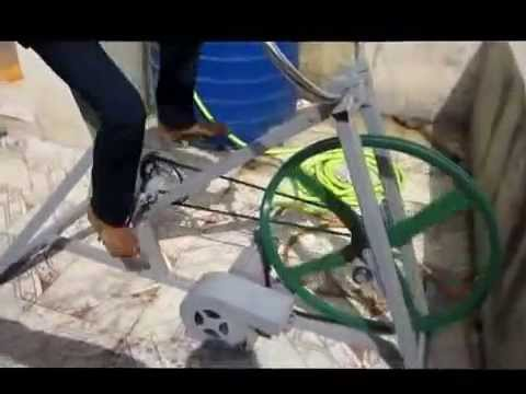 Pedal Powered Centrifugal Pump Vacuum Cleaner