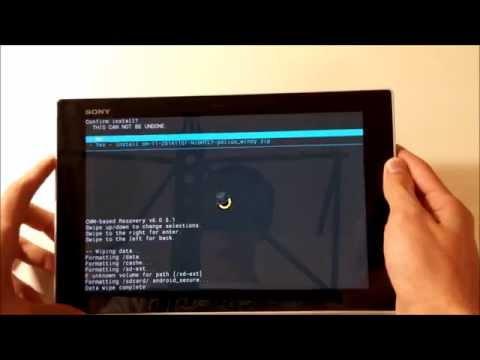 Instalar cyangenmod en Sony Xperia Tablet Z y desbloquear bootloader #MiSonyXperiaTV